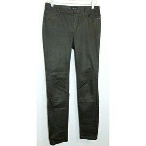 Etcetera Womens Ponte Pants Brown Skinny Leg